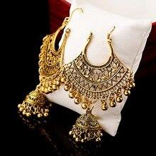 Sector Egypt Vintage Gold Jhumka Jhumki Earrings For Women Indian Jewelry Boho Bells Tassel Ethnic Turkish Tribal Gypsy Earings