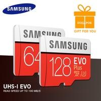 SAMSUNG Speicherkarte EVO + 64 GB 32 GB 16 GB EVO Plus SDHC SDXC Micro SD Grade EVO + C10 Max Geschwindigkeit 95 Mt/s microsd 256 gb