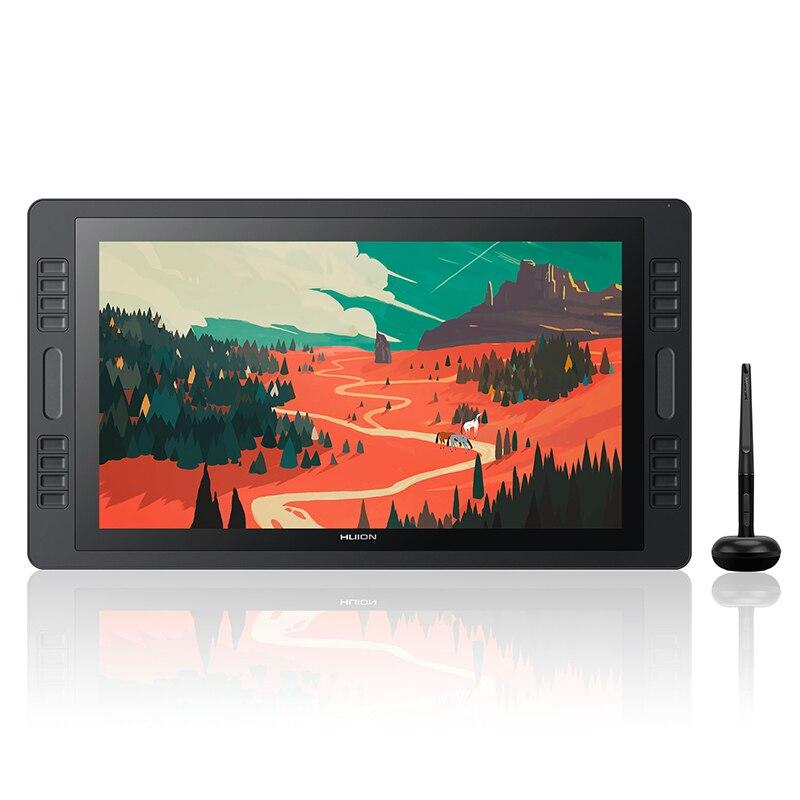 Huion KAMVAS Pro 20 GT-192 Support d'inclinaison sans batterie graphique dessin stylo écran d'affichage 8192 niveau avec touches Express barres tactiles