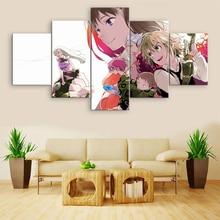 купить Modern Home Decor Canvas The Seven Deadly Sins Anime 5 Piece HD Print Painting Wall Art Canvas Painting Printed Anime Poster дешево