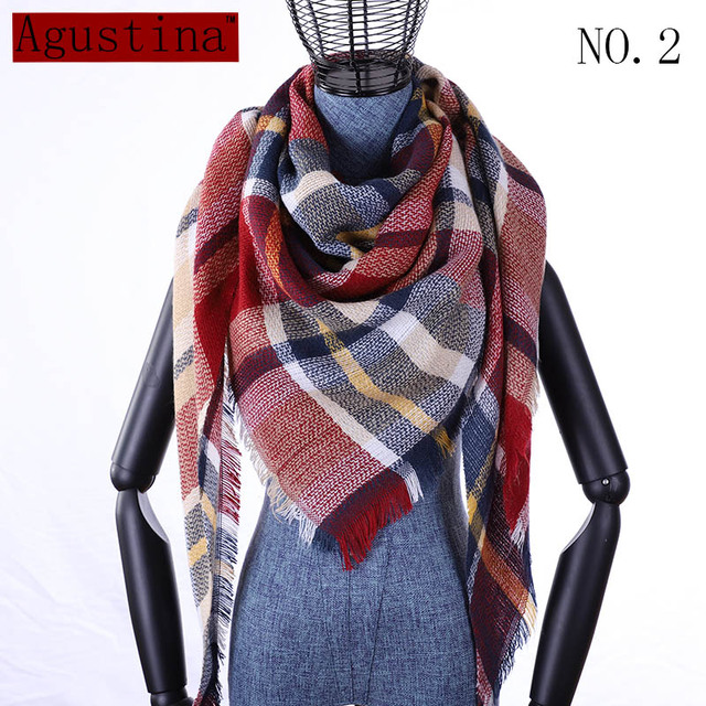 Plaid scarf winter women cashmere shawl poncho triangle scarfs luxury capes brand  pashmina ladies scarves womens shaws tartan -in Women's Scarves from Apparel Accessories on Aliexpress.com | Alibaba Group