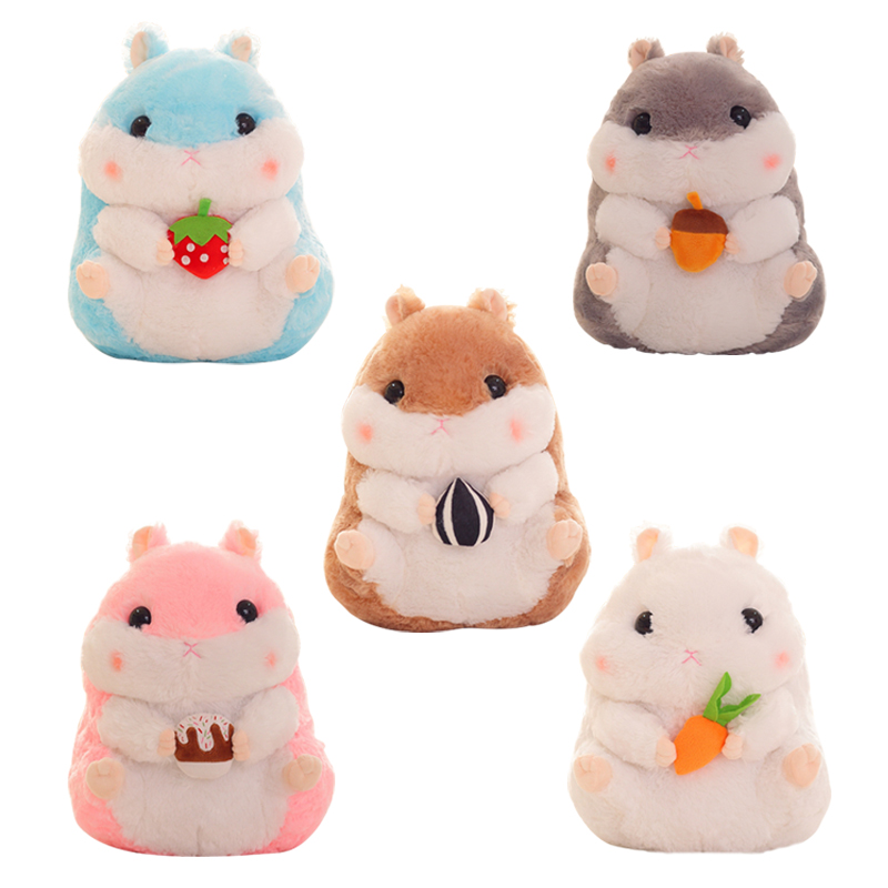 1pc 38cm Stuffed Animal Plush Hamster Creative Simulation Plush Toy Stuffed Doll Soft Toy Kawaii Christmas Gift For Kid new cute plush toy cow doll simulation game more cattle stuffed animal christmas birthday gift for girls