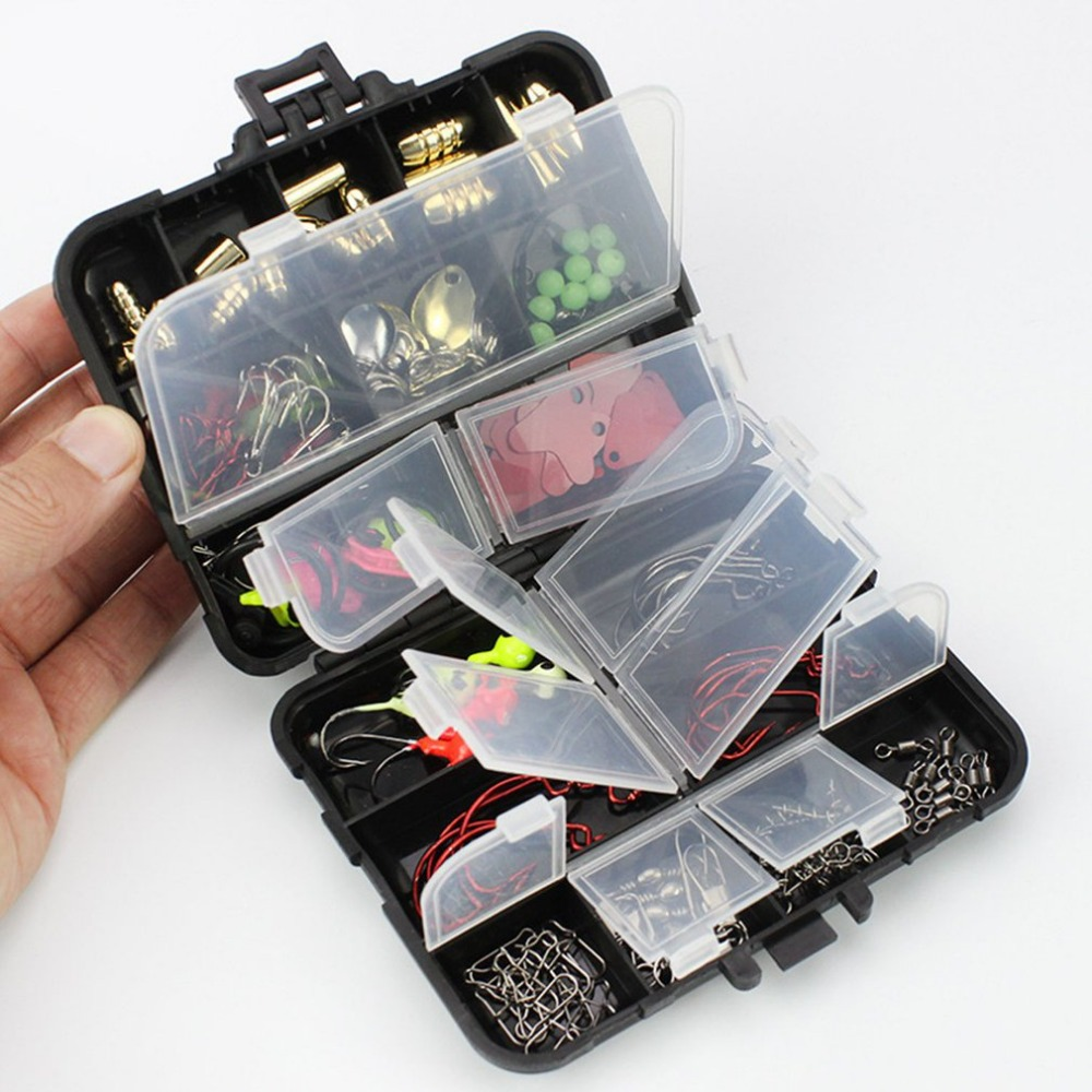 20 Kinds 128 Pcs Fishing Accessories Hooks Swivels Sinkders Stoppers Connectors|Fishing Tackle Boxes| |  - title=