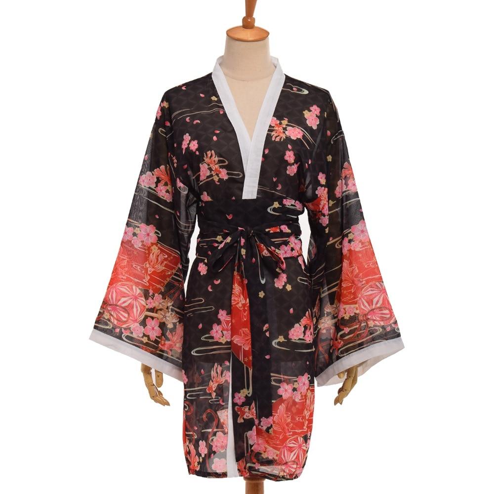 Japanischen Stil Sakura Kimono Strickjacke Yukata