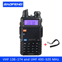 Portable Radio Set Baofeng UV 5R5W Walkie Talkie UV5R Dual Band Handheld Two Way Radio Pofung