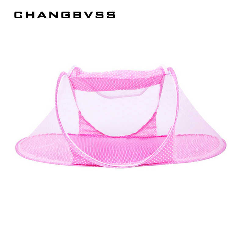 Infant Baby Bedding Crib Mosquito Net for Baby,Portable Mosquito Mesh Netting Toddler Cots,Fodable Summer Mosquito Nets Insect