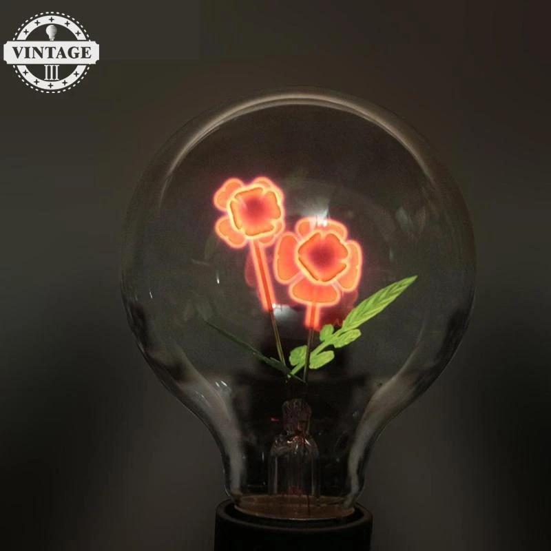 Edison E27 Incandescent Light Bulb G80 Decorative Vintage Home Lamp Novelty