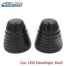 2 шт Автомобильный светодиодный фары крышка для защиты от пыли, автомобильный Стайлинг, расширенный клей в виде ракушки для Toyota Volkswagen Honda H1 H4 H7 H11 9005 9006