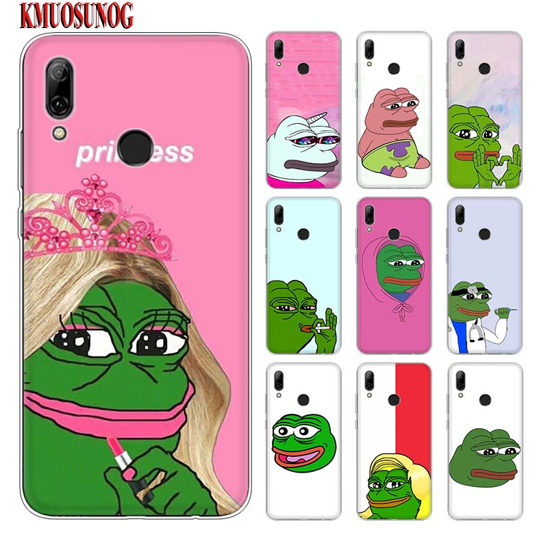Silicone Phone Case Pepe Memes Sad Frog for huawei P30 Lite P Smart Honor 7A 8 8A 8C 8X 10i Y5 Y6 Y7 Y9 Pro 2019 2018 2017 image