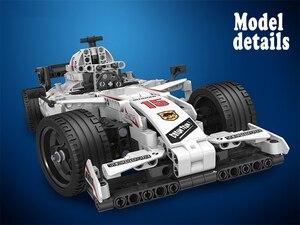 Image 4 - Moc f1 racing rc carro de controle remoto 2.4ghz técnica com caixa motor 729 pçs blocos de construção tijolo criador brinquedos para crianças presentes