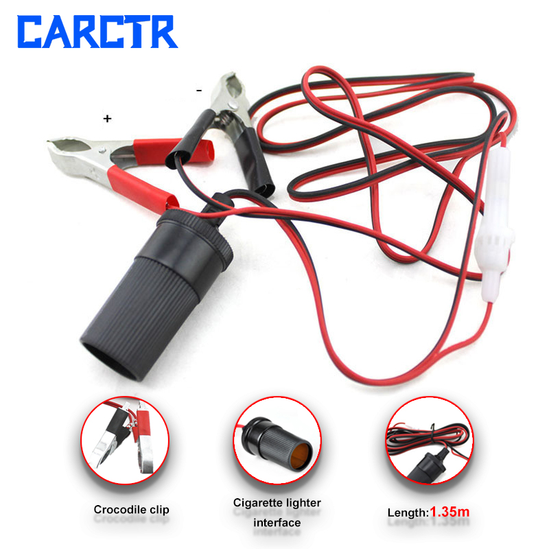 Car Truck Emergency Jumper Cables Wire 1.35m Wire Crocodile Clip Cigarette Lighter Interface Can Be Used For Air Pump 4008