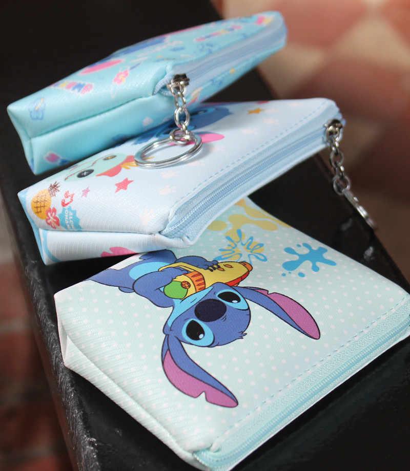 דיסני מיקי עכבר קריקטורה ארנק מטבע תליון תיק כרטיס חבילת מיני ילדי ילדה תיק קוסמטי אחסון עיפרון ילד מקרה