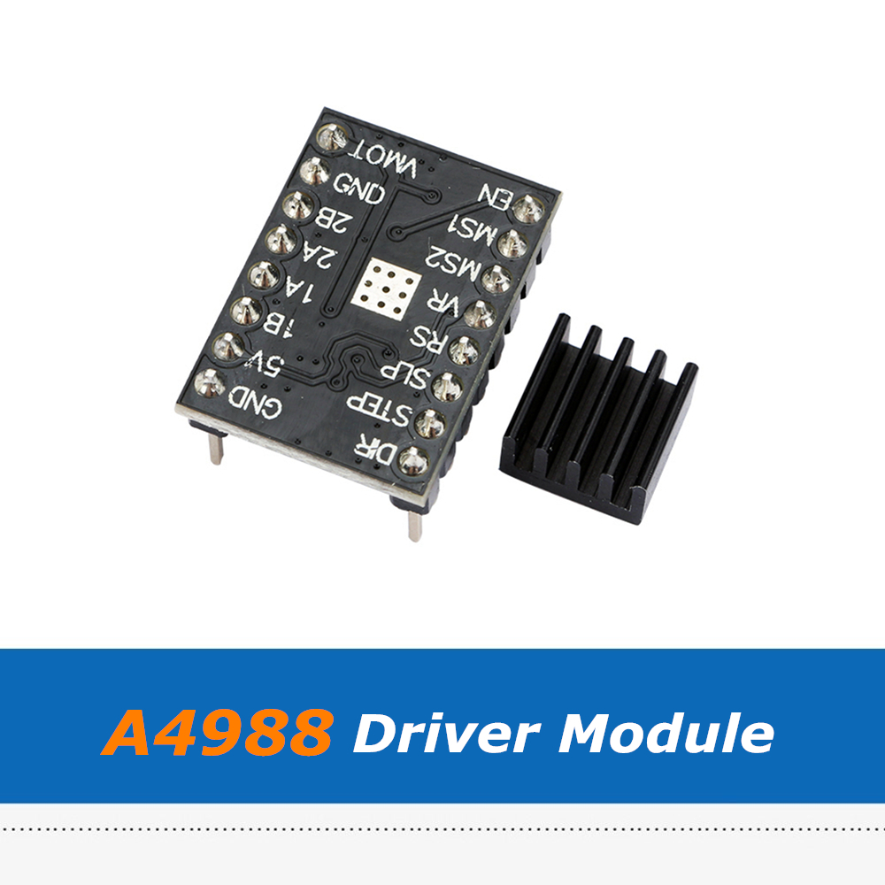 4pcs/Lot 3D Printer Accessory A4988 Stepper Motor Driver Module With Heatsink Used For Makerbot Mighty Board