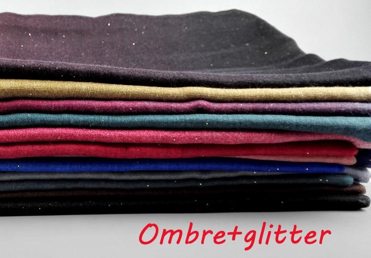 Printe Ombre shimmer scarves fashion viscose cotton shade color muslim long winter popular wrap scarf shawls