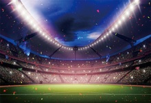 Laeacco Football Stadium Spotlight View Of The Stands Scenic Photographic Background Wall Photography Backdrops For Photo Studio