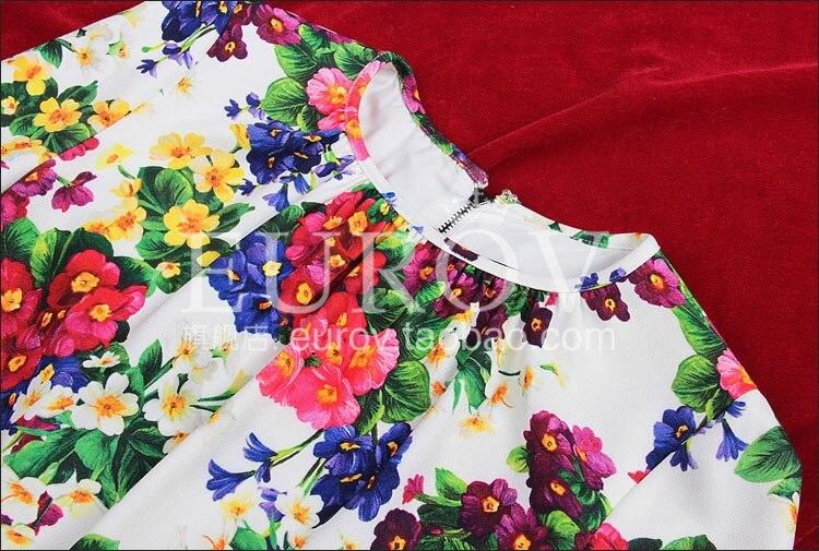 Designer 2018 Longues Imprimé Haute Mignon Mince Floral Automne Femmes Blanche À Nouvelle Qualité Manches Robe wRxOCnq4