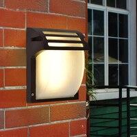Outdoor Light LED wall lamps simple waterproof garden villa loft balcony black iron+glass lighting wall lights FG255