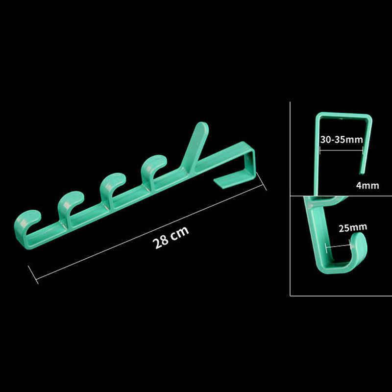 Вешалка для двери в спальню вешалка для одежды держатель крючки для сумок полотенце Пластиковые домашние крючки для организации рельсы