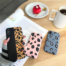 Colorful Leopard Print Phone Case For iphone 6 XR XS Max 6s 7 8plus Fashion Sexy Soft Silicone Matte Cover