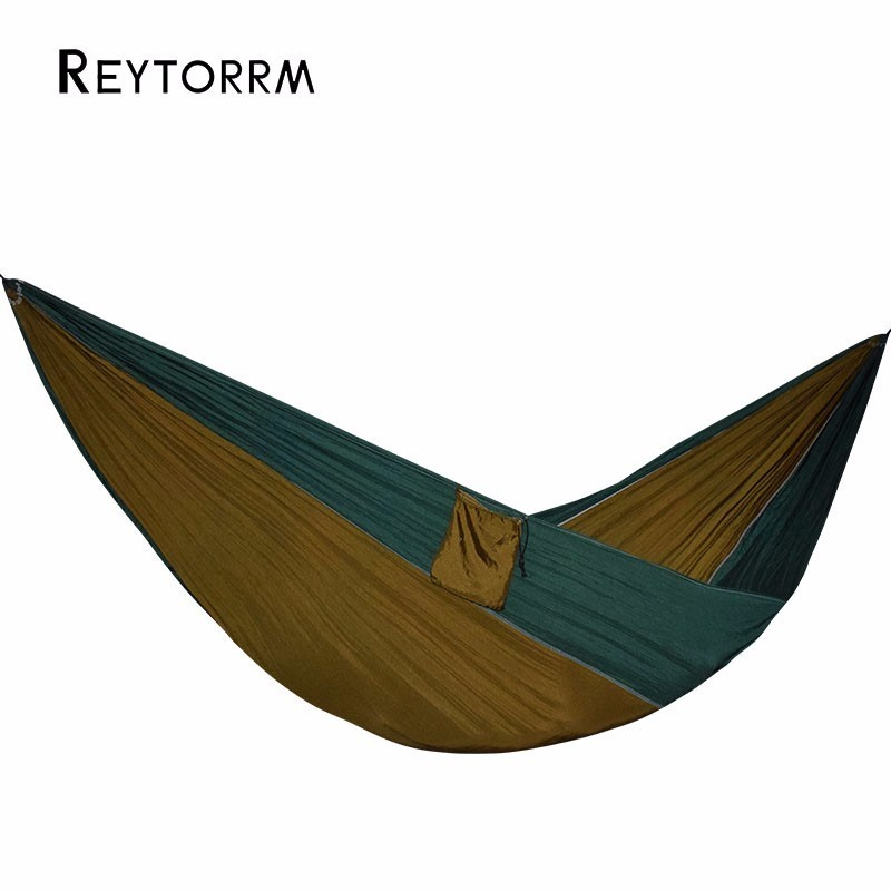 Army Hammock 2 Person Outdoors Camping Survival Travel Hamac Hanging Chair Swing Hamak Bed Durable Hangmat 1 2 person outdoor mosquito net parachute hammock camping hanging sleeping bed swing portable double chair hamac army green