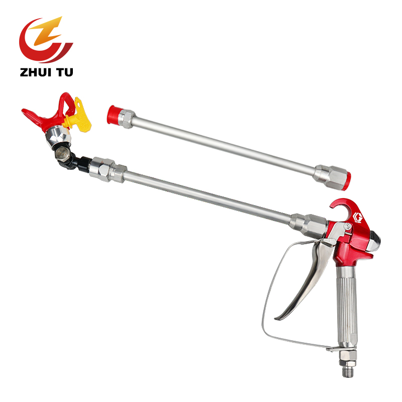 Airless Paint Sprayer Spray Gunpole Is 0.6 Meters Tip Extension Pole Rod For Graco Titan Wagner 360 - Degree Rotating Nozzle
