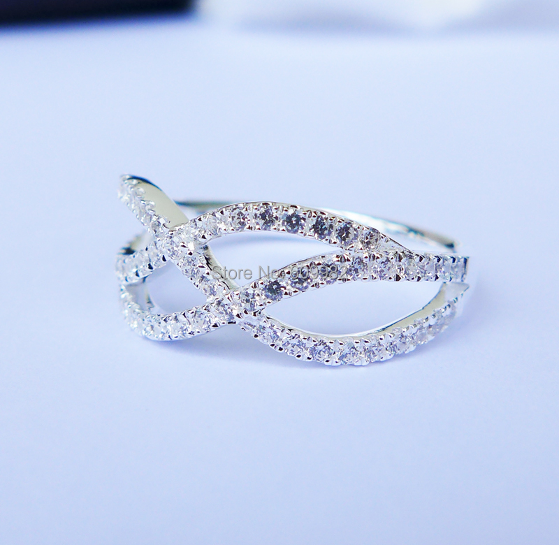 Wellmade Solid 925Sterling Silver Infinity Ring цена и фото