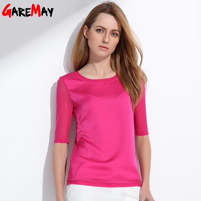 Kadın bluzlar 2020 yaz ipek şifon kadınlar için tops Zarif - Bayan Giyimi - Fotoğraf 1