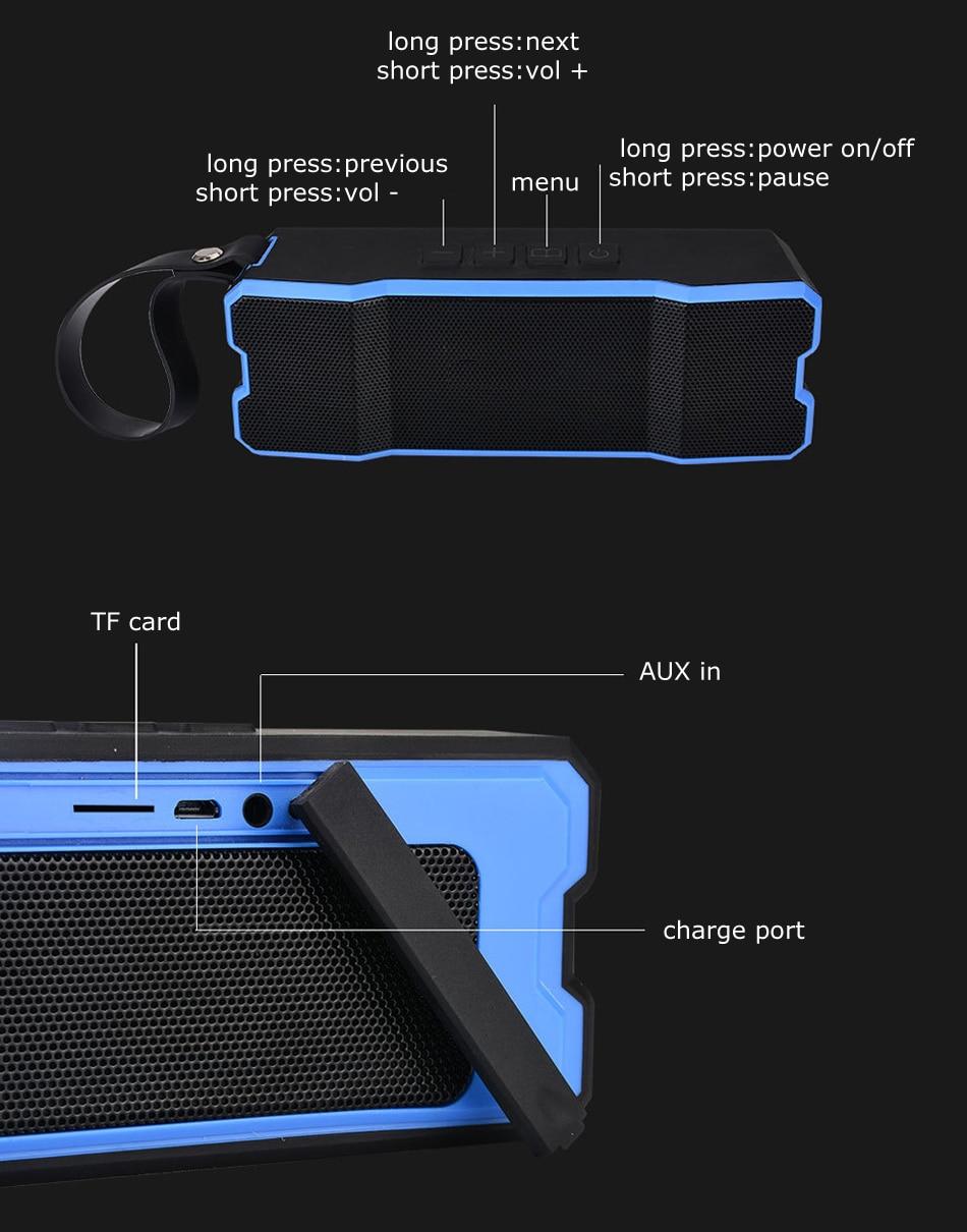 Zukzug prenosni zunanji brezžični Bluetooth zvočnik, zaščiten - Prenosni avdio in video - Fotografija 5