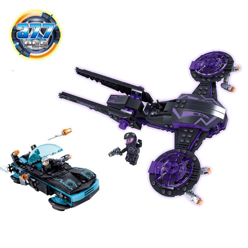 KAZI 377Pcs City War Science Fiction Spaceship Weapon Action Figure Building Blocks Bricks Playmobil Toys for Children