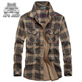 New 2016 Plus Size M-5XL Men Shirts Loose Big Casual 100% Cotton british style long sleeve Plaid hawaiian Shirt male