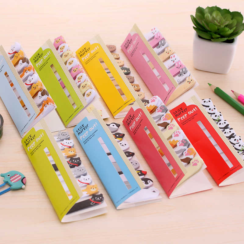 Hot Selling Good Quality Kawaii Scrapbook Stickers Sticky Notes Memo Pad  Page Flags For Kids Material School Office Supplies