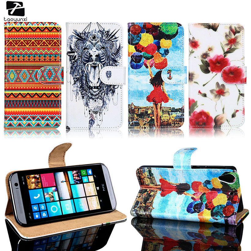 TAOYUNXI PU Leather Phone Cases For HTC Desire 626 650 628 A32 626w 626D 626G 626S Housing Bag Wallet DIY Painted Case Cover