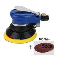 5 Inch Non vacuum Matte Surface Circular Pneumatic Sandpaper Random Orbital Air Sander Polished Grinding Machine Hand Tools