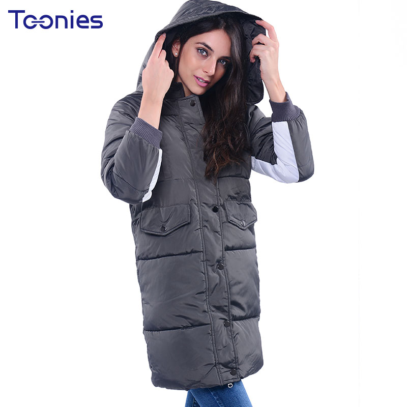 Wadded Jacket Women Long Parkas 2017 Thickening Warm Winter Cotton Coat Hooded Jackets Plus Size Female Jacket Outwear Coats 2017 winter women plus size in the elderly mother loaded cotton coat jacket casual thickening warm cotton jacket coat women 328