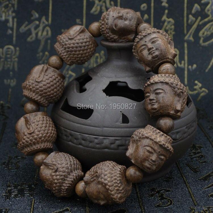 Prix pour À choix multiples Tibétain Bouddhiste Enterré Ébène Prière Perles Mala Bouddha Bracelet Chapelet En Bois de Bracelet De Haute Qualité Bijoux
