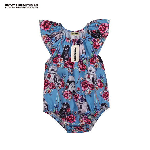 97b3406b3 Newborn Toddler Baby Girls Star Wars Flower Romper Newborn Ruffles ...