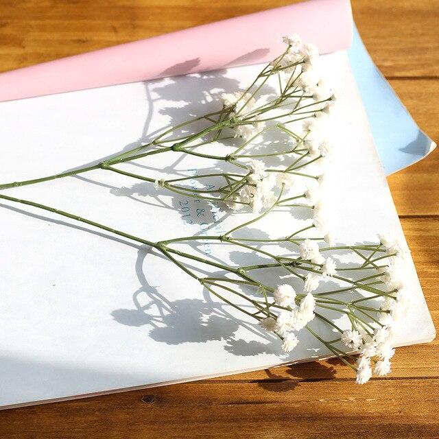 White Babies Breath Artificial Flowers Plastic Gypsophila DIY Floral Bouquets Arrangement Wedding Home Decor 90 Flower Heads