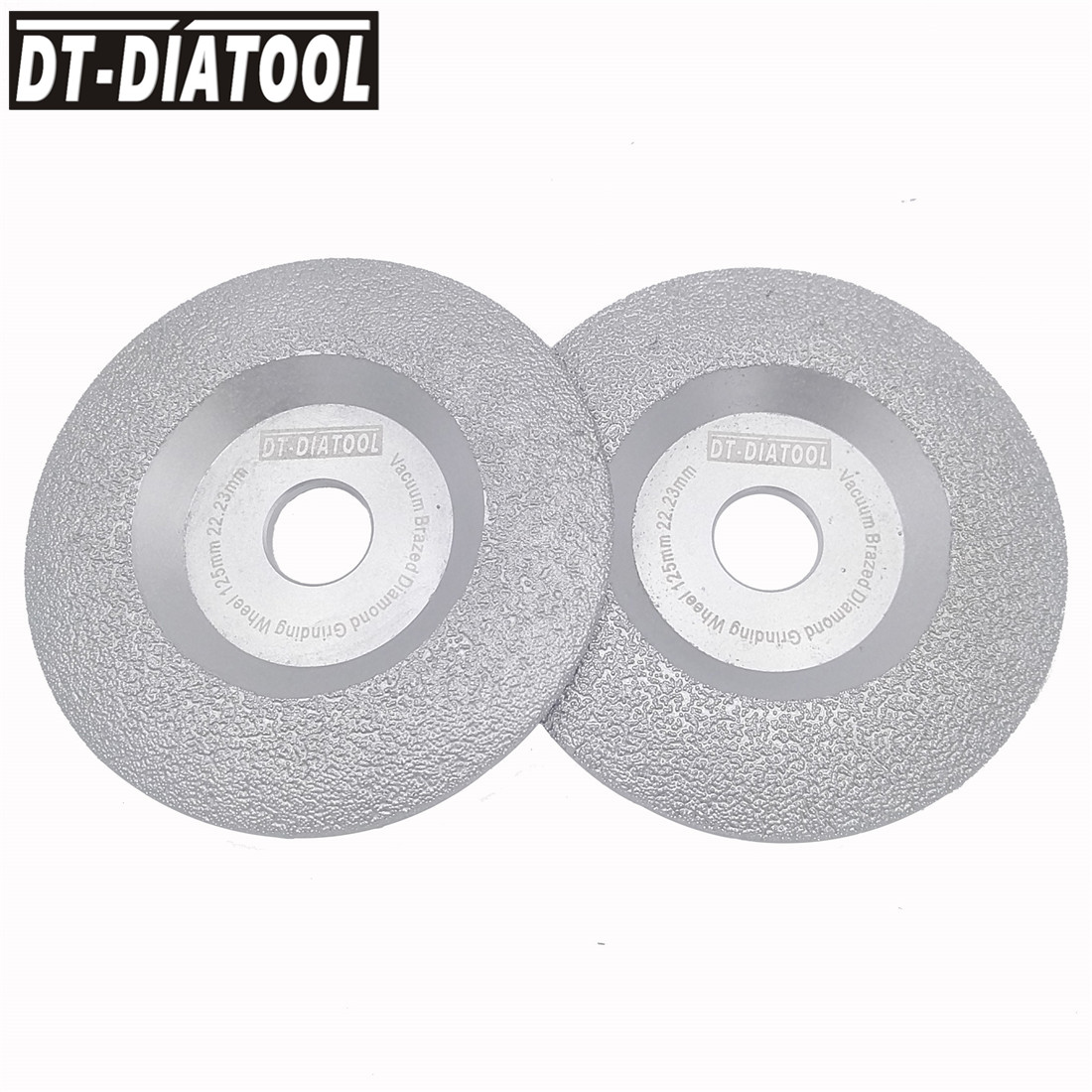 DT-DIATOOL 2 units Diameter 125mm Vacuum Brazed Diamond Disc Grinding Wheel Dry Long Life Stone and Construction Material 5 diatool dia75mmx30mm hand held grinding wheel vacuum brazed diamond flat grinding wheel profile wheel for stone artificial stone
