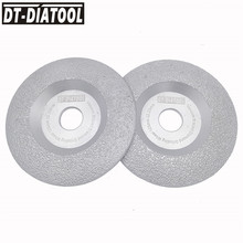 DT-DIATOOL 2 units Diameter 125mm Vacuum Brazed Diamond Disc Grinding Wheel Dry Long Life Stone and Construction Material 5