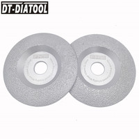 DT DIATOOL 2 units Diameter 125mm Vacuum Brazed Diamond Disc Grinding Wheel Dry Long Life Stone and Construction Material 5