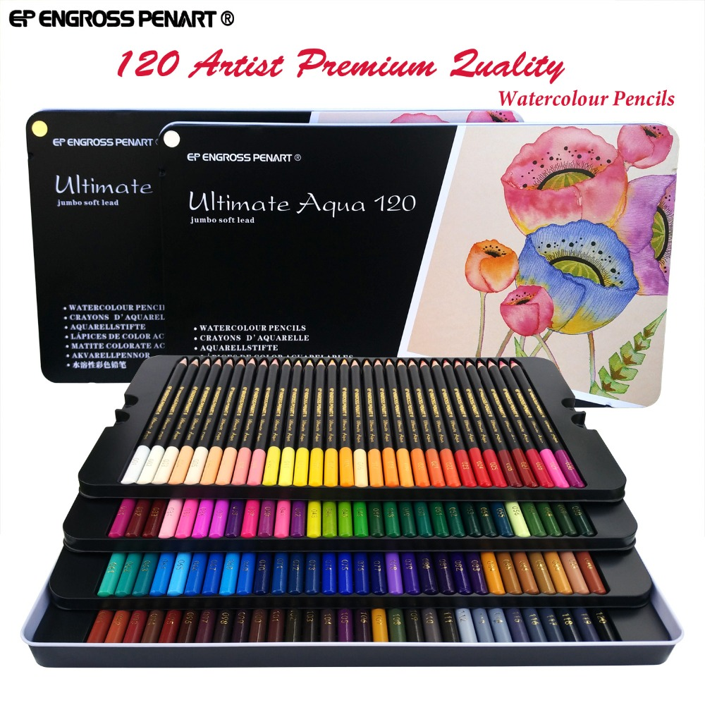 Peroci 72120 crayons de couleur aquarela lapis de cor Professionnel 120 couleurs Aquarelle Crayon Set Art School Student Supplies