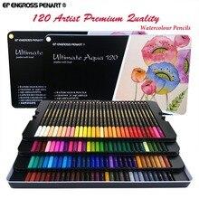 Peroci 72 120 Colored Pencils aquarela lapis de cor Professional 120 colores Watercolor Pencil Set Art