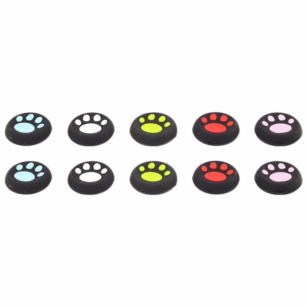 20pairs get 2pairs free40ps=20pairs for playstation 4 cat paw thumbstick joystick cover grips caps skin for ps3 ps4 XBOX 360 one