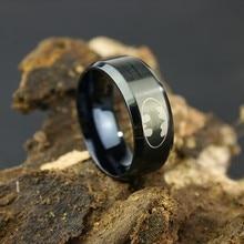 Нержавеющая стальное кольцо ювелирных изделий мужчин Бэтмен кольцо темное Knigh кольцо Супермена 316l кольца из титана и стали для женщин