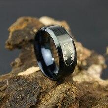 2017 Stainless Steel Jewelry Ring Men Batman Ring Dark Knigh Superman Ring 316l Titanium Steel Rings For Women