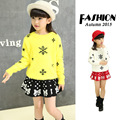 kids sweater patterns Snowflake white yellow winter sweater children for girl teenage 150 160 cm big girls clothes warm clothing