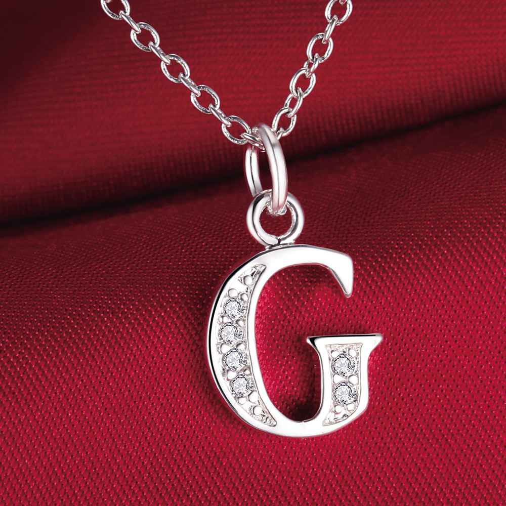 fashion letter G silver plated Necklace New Sale silver necklaces & pendants /ZEIGHDEM DKNKDHBE