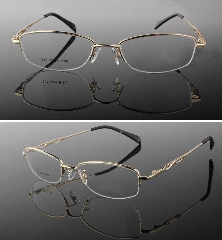2016 Kostenloser Versand Dicken-gold Metall Frauen Brillen Brillen Brillen Korrektionsbrillen Optische Rahmen Oculos