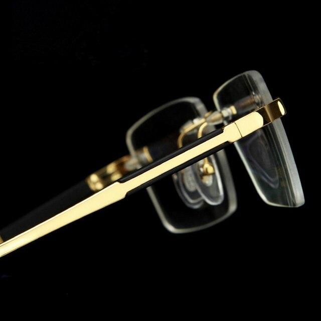 Высокого класса luxury Pure titanium Бизнес очки без оправы кадров Широкий большой лицо человека Оптический близорукость чтения Armacao de óculos 00349