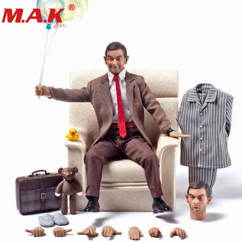 1/6scale Mr. Bean Rowan Atkinson single body Ver. W 2pcs head male man action figure collectible figure full set with clothes